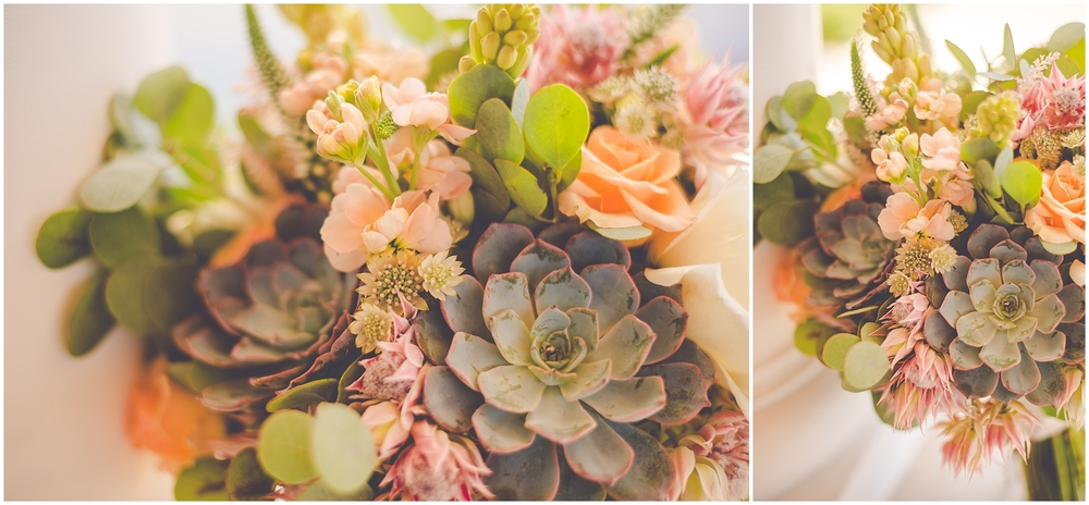 By Kara - Kara Evans - Ottawa Illinois Wedding Photographer - Ottawa Illinois Wedding - Summer Succulent Wedding Bouquet - Mint Green Wedding Inspiration