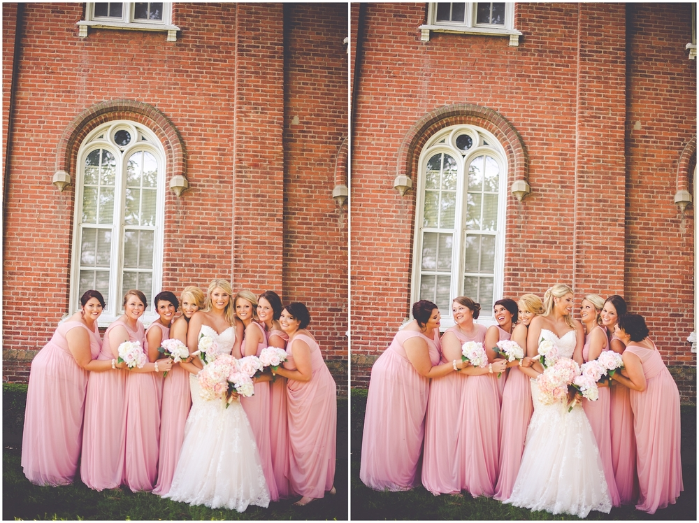 By Kara - Kara Evans - Jacksonville IL Wedding Photographer - Illinois College - Illinois College Wedding - College Campus Wedding - Blush Pink, White, and Gold Wedding - Blush Pink Wedding - Blush Pink Bridesmaid Dresses