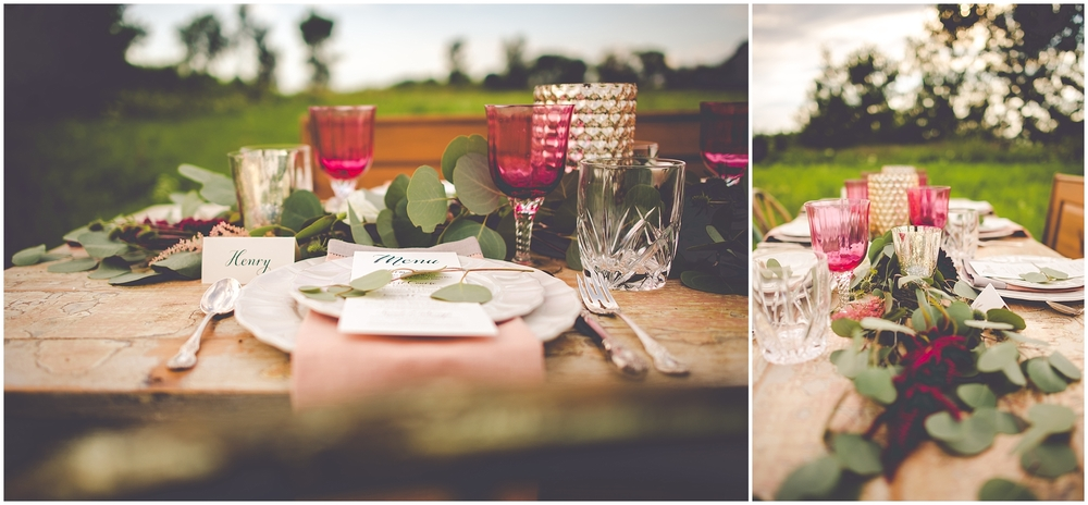 By Kara - Kara Evans - Bradley Bourbonnais Tuesdays Together - Styled Shoot - Rustic Floral Boho Wedding Styled Shoot - Bradley Bourbonnais IL Wedding Vendors - Summer Floral Boho Styled Shoot - Boho Floral Tablescape