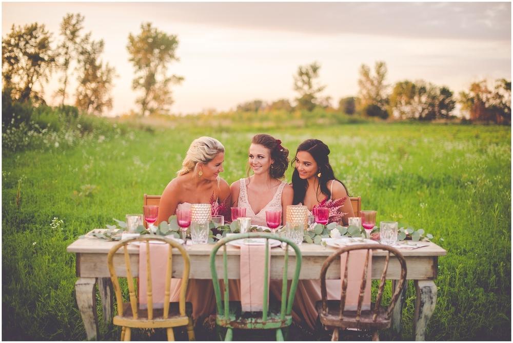 By Kara - Kara Evans - Bradley Bourbonnais Tuesdays Together - Styled Shoot - Rustic Floral Boho Wedding Styled Shoot - Bradley Bourbonnais IL Wedding Vendors - Summer Floral Boho Styled Shoot - Floral Boho Wedding Bridesmaids