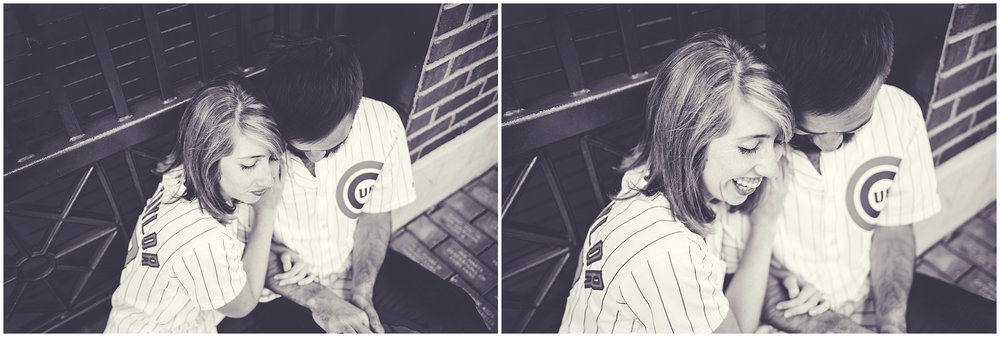 By Kara - Kara Evans - Chicago Engagement Photographer - Wrigleyville Engagement Session - Chicago Cubs Wrigley Engagement Pictures - Summer Chicago Cubs Engagement Photos