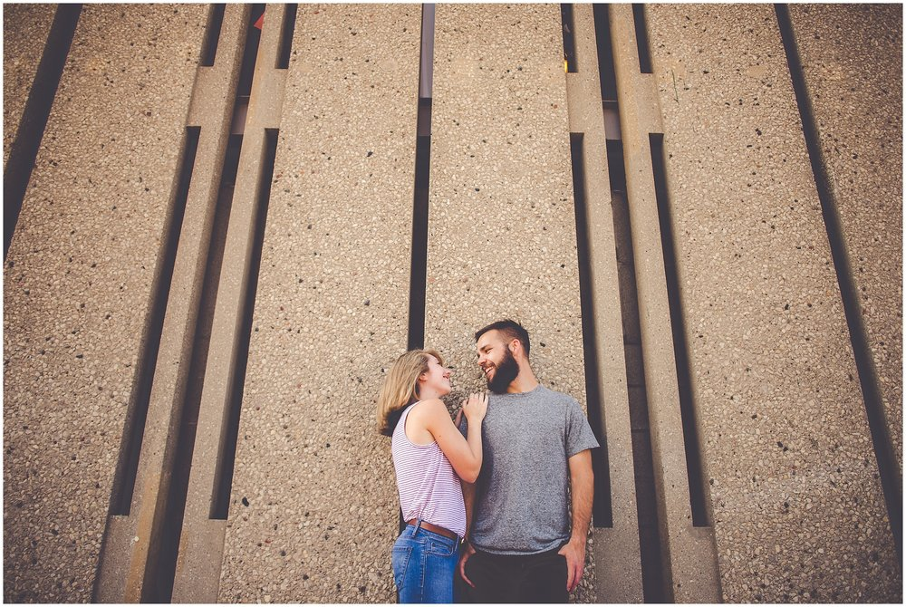 By Kara - Kara Evans - Chicago Engagement Photographer - Wrigleyville Engagement Session - Chicago Wrigley Engagement Pictures - Summer Downtown Chicago Engagement Photos