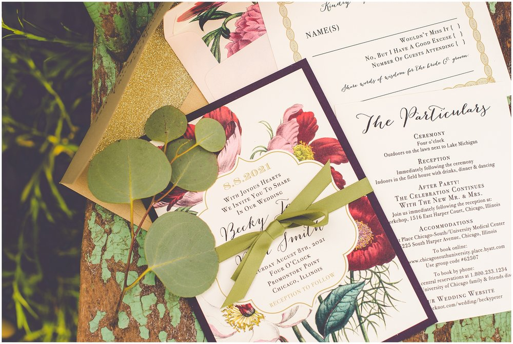 Floral boho wedding invitation suite from Beacon Lane.