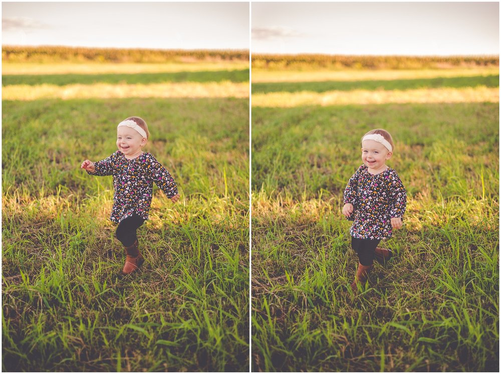 By Kara - Kara Evans - Central Illinois Family Photographer - Farm Two Year Old Photos - Farm Family Session - Two Year Photos - Two Year Old Girl Photo Ideas
