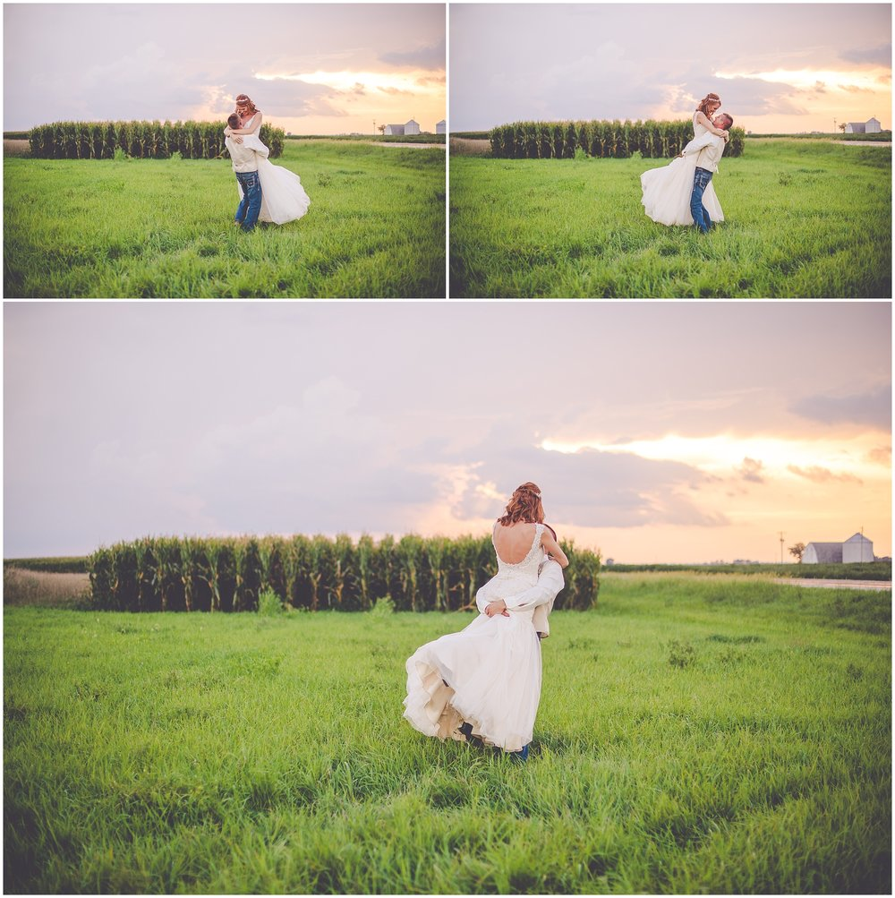 By Kara - Kara Evans - Central Illinois Wedding Photographer - Champaign, IL Area Wedding Photographer - Summer Mint Farm Wedding - Thunderstorm Sunset Photo