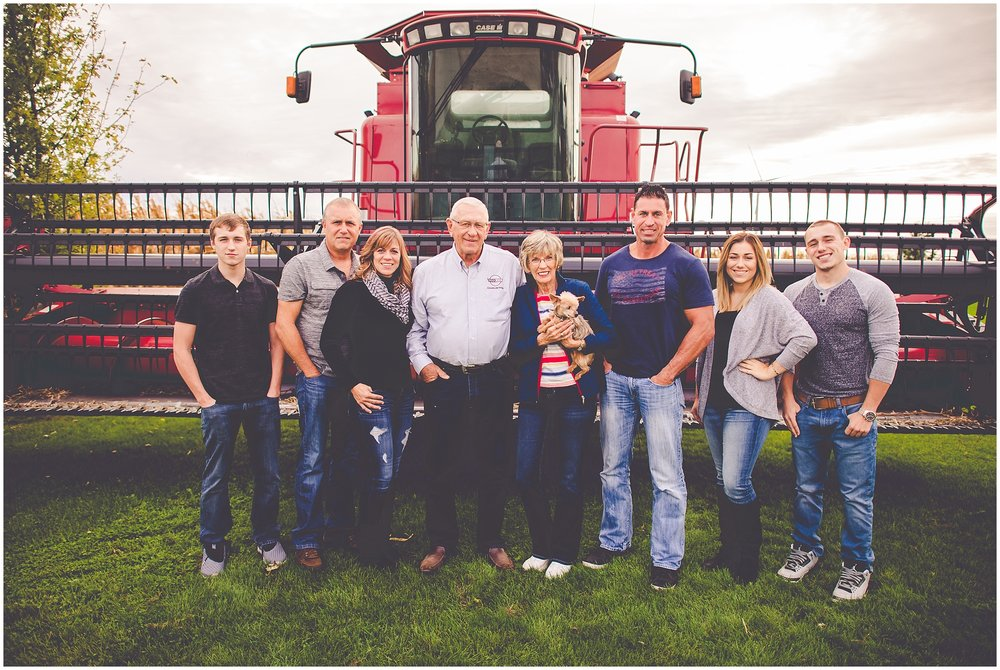 By Kara - Kara Evans - Central Illinois Family Photographer - Fall Harvest Family Photos - Family Farm Session - International Harvester Family Photos