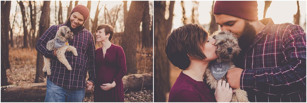Kara Evans Photographer - Central Illinois Family Photographer - Springfield Illinois Maternity Photographer - Winter Maternity Session