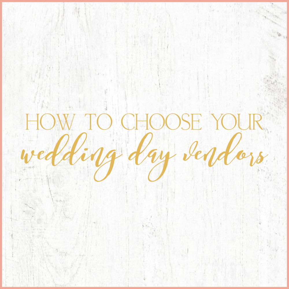 Kara Evans Photographer - Central Illinois Wedding Photographer - How to Choose Your Wedding Day Vendors - Wedding Wednesday