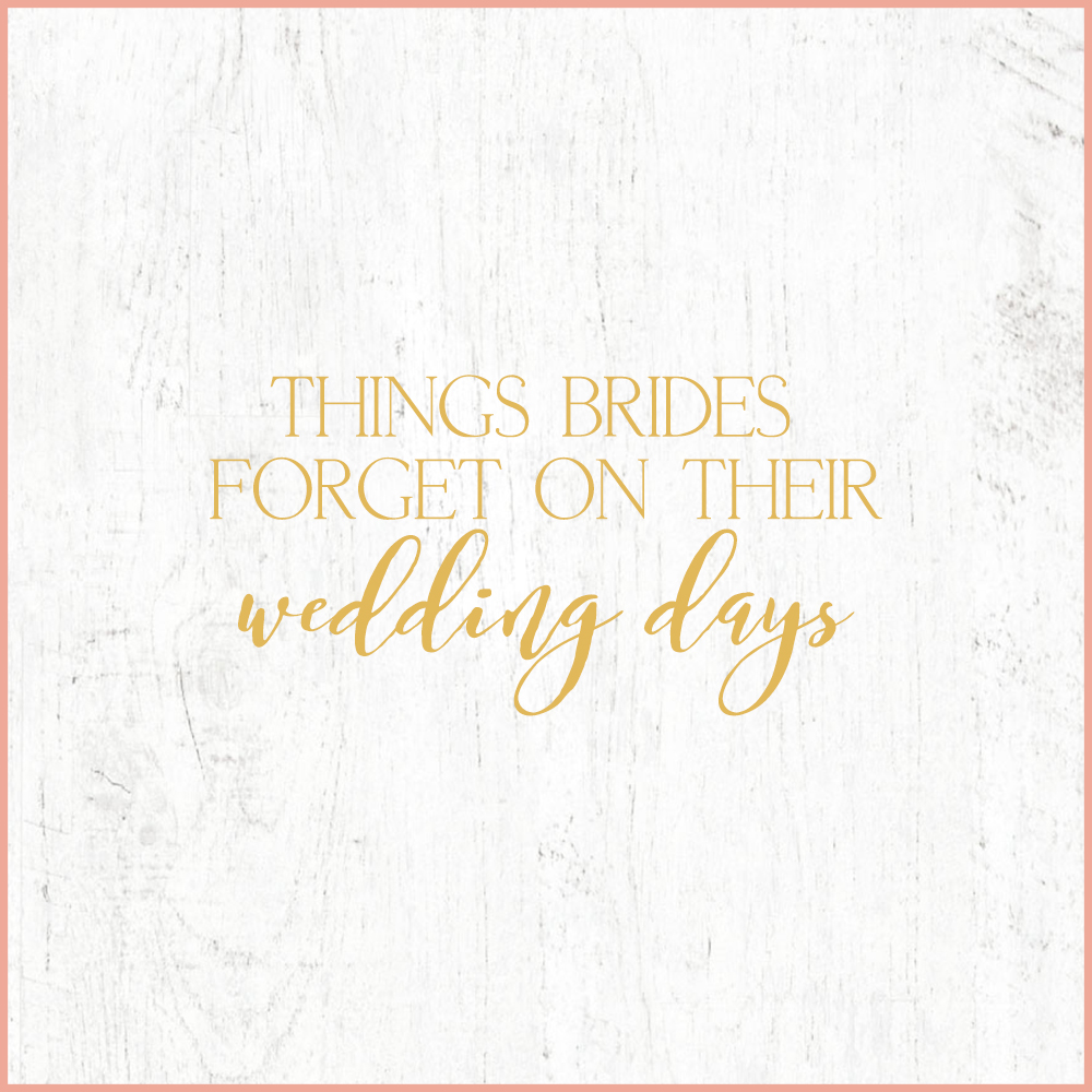 Kara Evans Photographer - Central Illinois Wedding Photographer - Things Brides Forget on Their Wedding Days | Wedding Wednesday