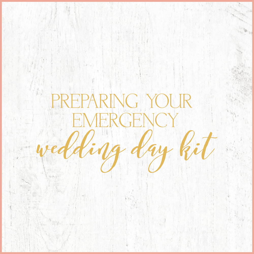 Kara Evans Photographer - Central Illinois Wedding Photographer - Preparing Your Emergency Wedding Day Kit | Wedding Wednesday
