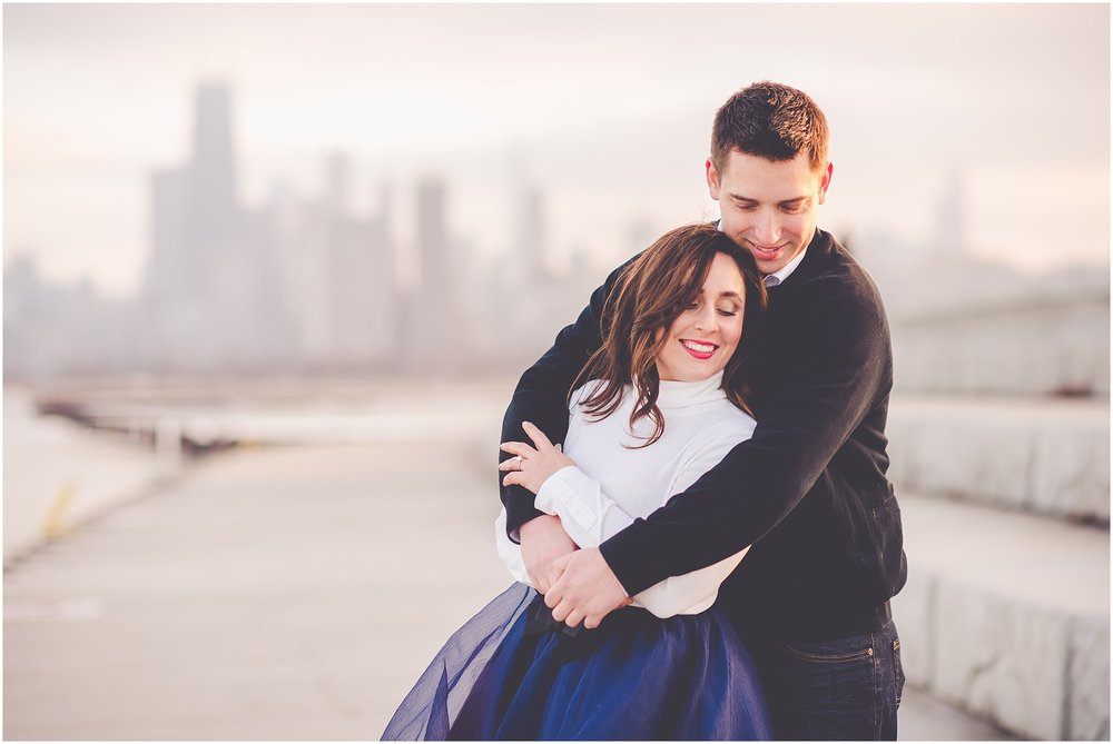 Kara Evans Photographer - Illinois Wedding Photographer - Lifestyle Chicago Engagement Photos - Chicago, Illinois Engagement Photographer | Winter Chicago Lakefront Session