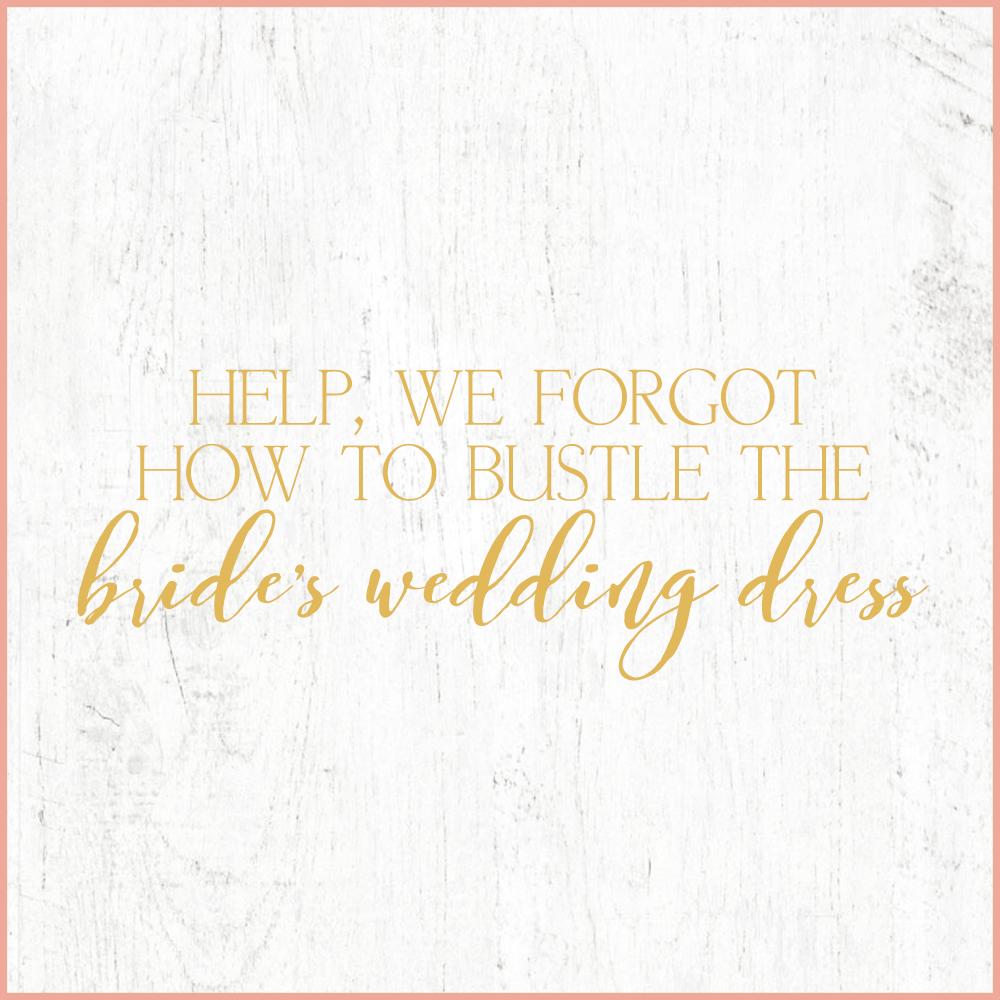 Kara Evans Photographer - Central Illinois Wedding Photographer - Help, We Forgot How to Bustle the Bride's Wedding Dress | Wedding Wednesday