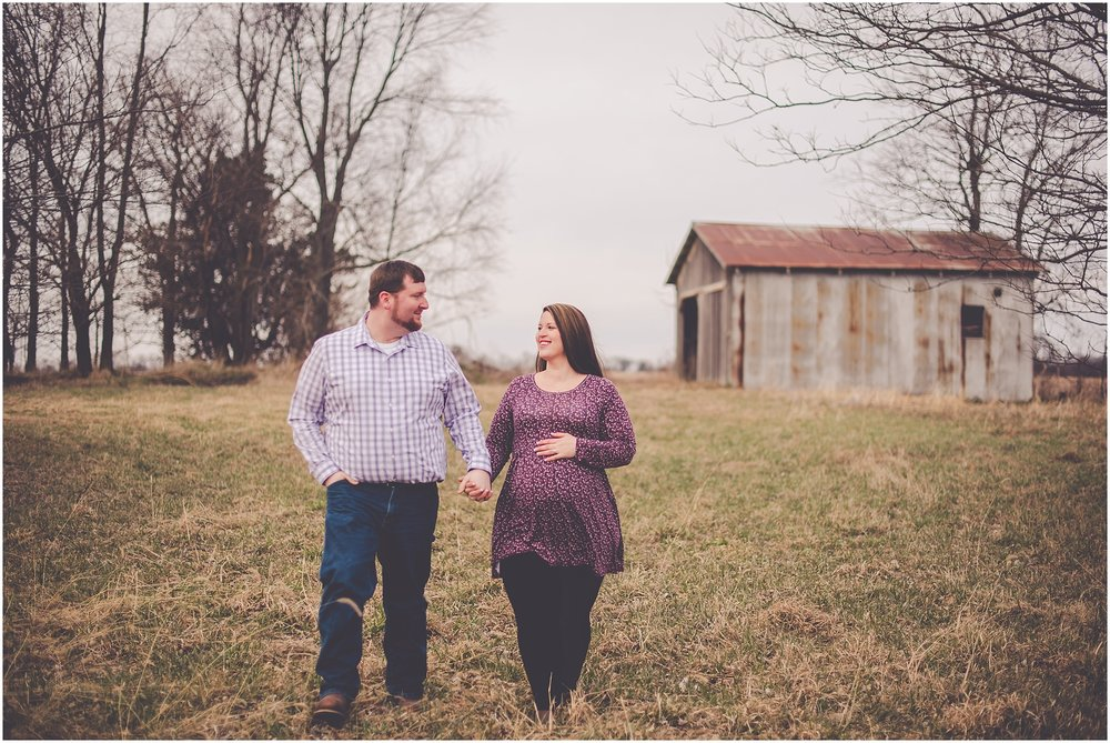 Kara Evans Photographer - Central Illinois Family Photographer - March Maternity Session - Winter Maternity Session - Sunset Winter Maternity Photos