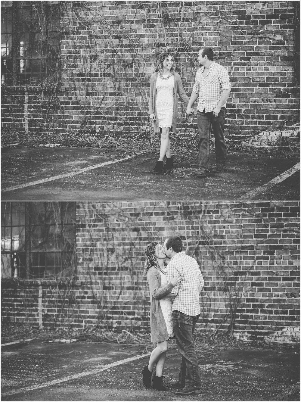 Kara Evans Photographer - Central Illinois Wedding Photographer - Springfield Engagement Session - Downtown Springfield Engagement Photos - Gietl Brothers Auto Body