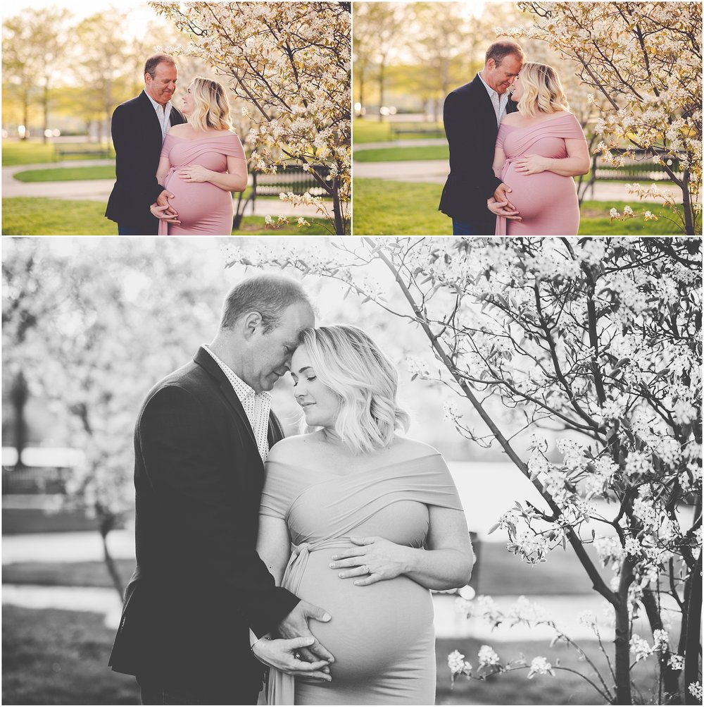 Kara Evans Photographer - Central Illinois Family Photographer - Chicago Maternity Photos - Pink Gown Maternity - Downtown Chicago Maternity Session