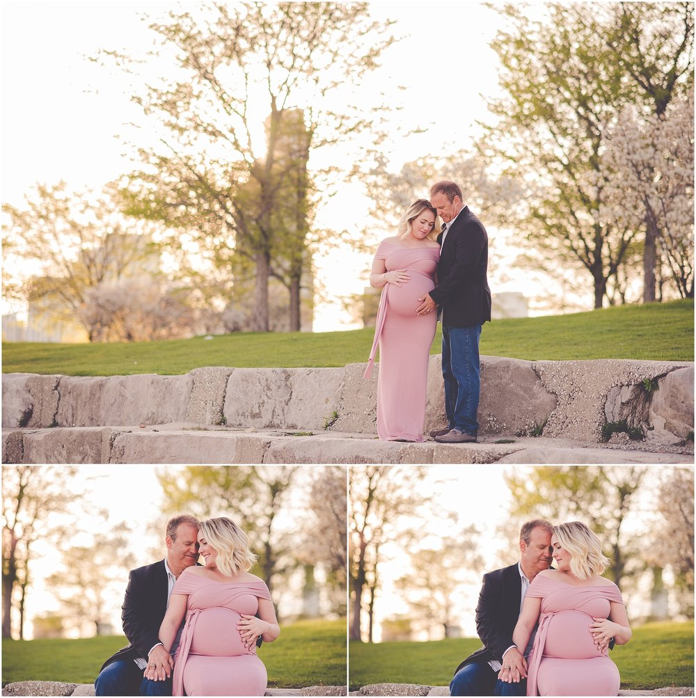 Kara Evans Photographer - Central Illinois Family Photographer - Chicago Maternity Photos - Pink Gown Maternity - Chicago Maternity Session
