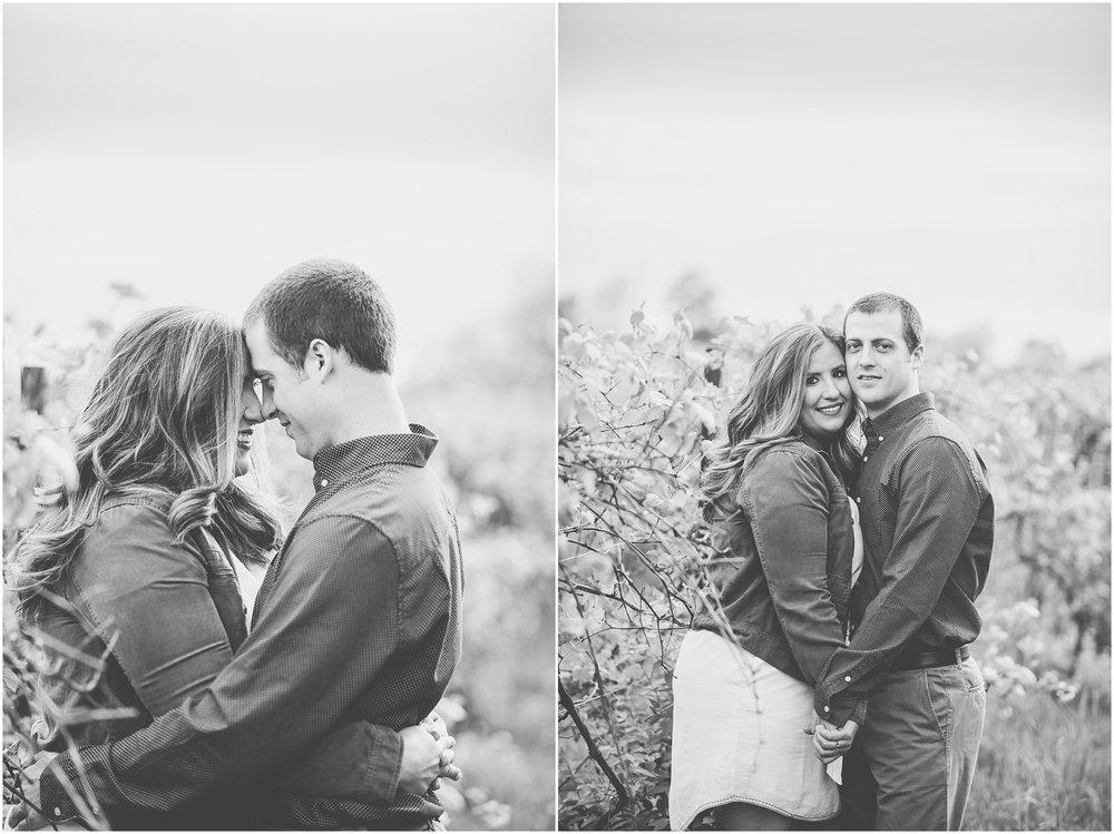 Kara Evans Photographer - Central Illinois Wedding Photographer - Kankakee County Wedding Photographer - Spring Sunset Engagement Photos - Stormy Sunset Engagement Photos