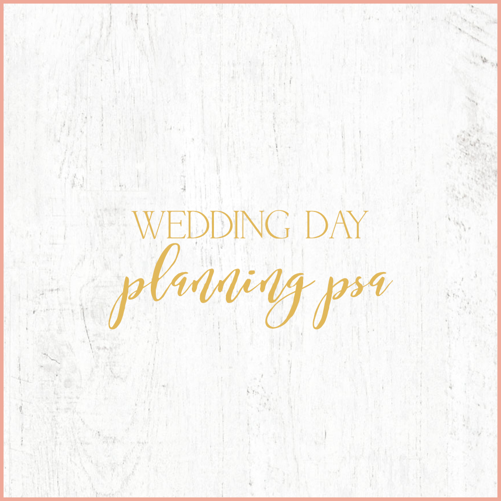 Kara Evans Photographer - Central Illinois Wedding Photographer - Wedding Day Planning PSA - Wedding Wednesday