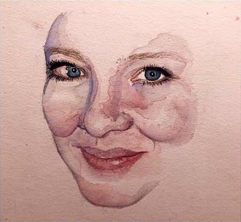 Watercolor portrait by Me.