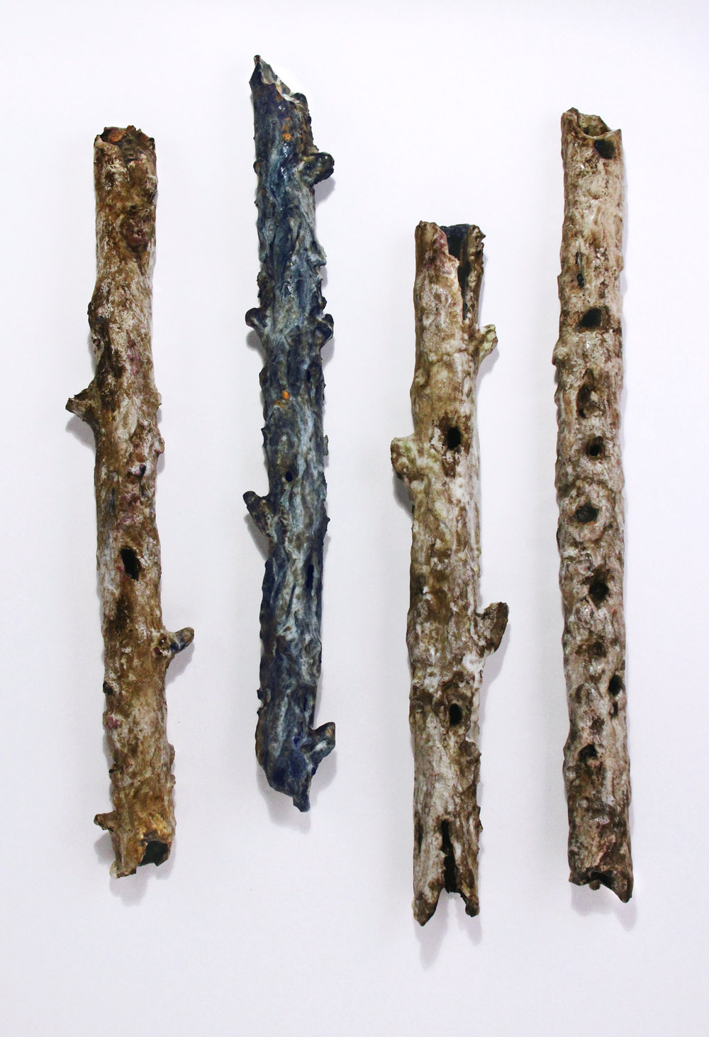 "Mixed Forest, 2016; each piece approx. 24"" x 2"" x 3"""