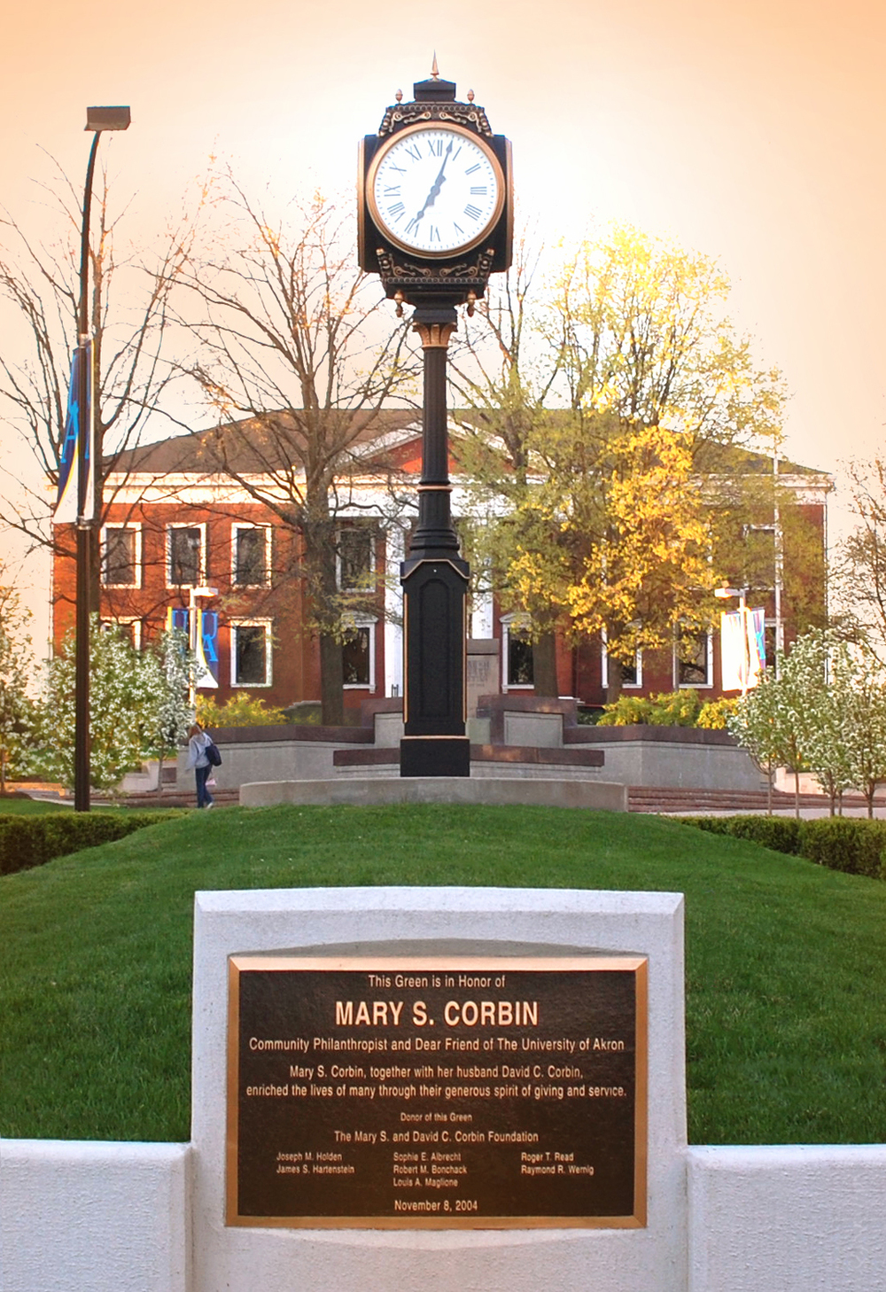 Donor Monument and Tower Clock