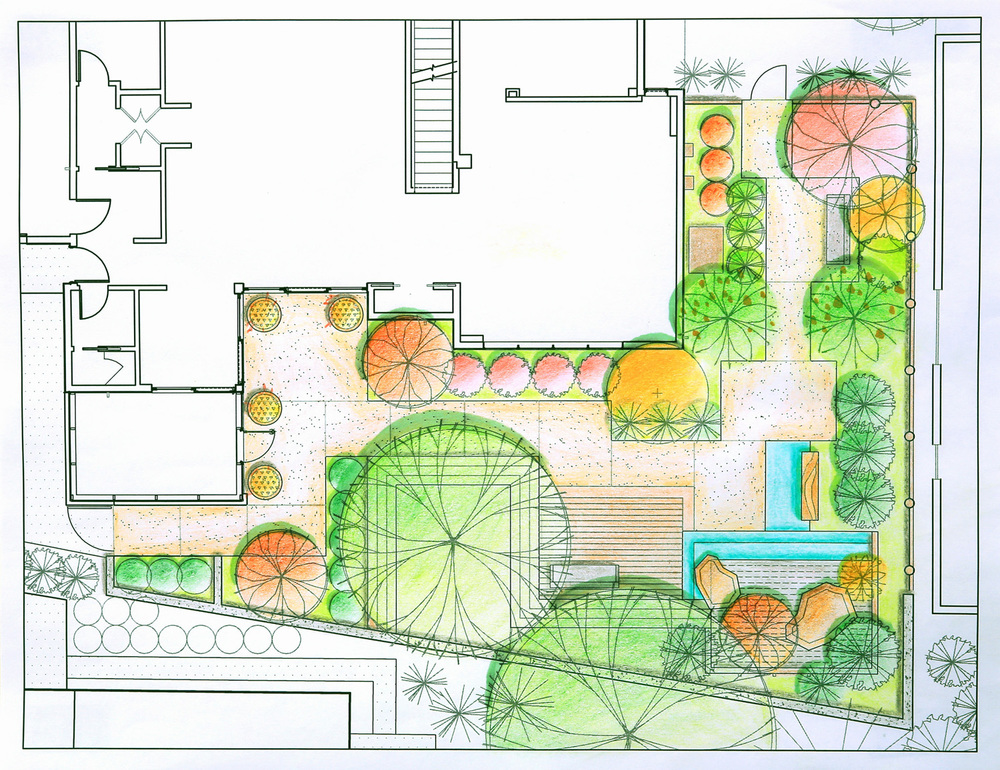 Residential landscape design projectsdavid toguchi for Residential landscape plan