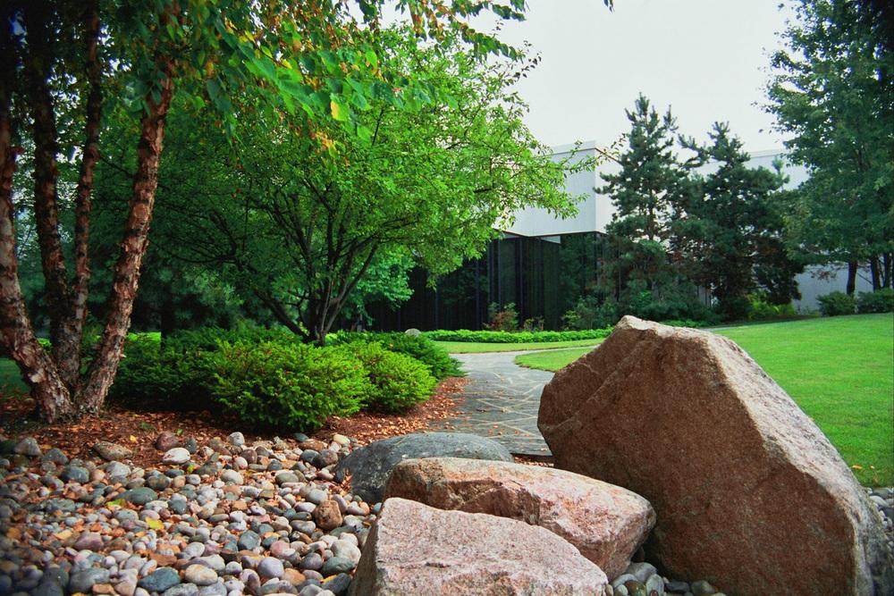 Zen Garden Stones & Meandering Stone Path