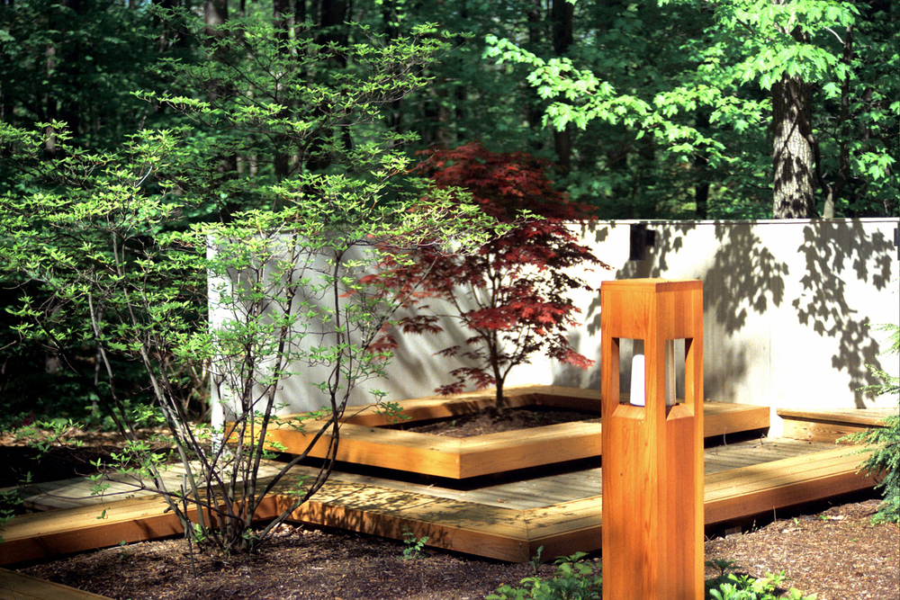 Contemporary Landscape Design With Cedar Deck