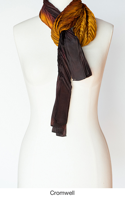 Cromwell silk scarves and wrap by artist Jean Carbon in Raglan New Zealand