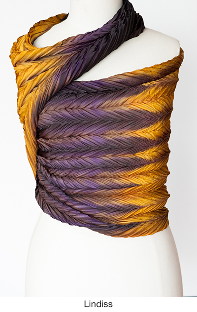 Lindiss silk scarves and wrap by artist Jean Carbon in Raglan New Zealand