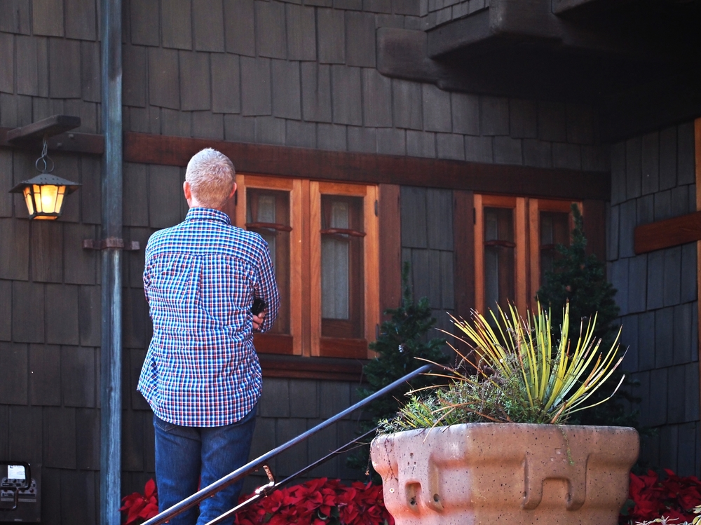 Mike gaining inspiration from Pasadena's iconic Gamble House