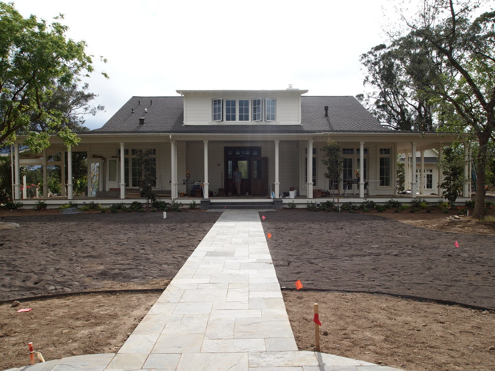 Sonoma County vineyard estate near completion. Visit  MintLocations.com  to view a photo gallery of the completed plantation-style Magnolia Farmhouse.