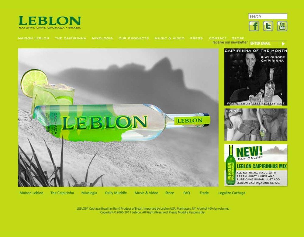 Leblon Cachaça Website