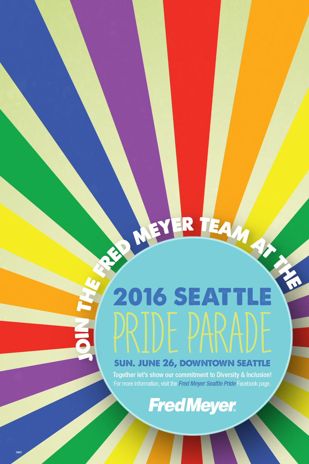 Fred Meyer Seattle Pride Poster