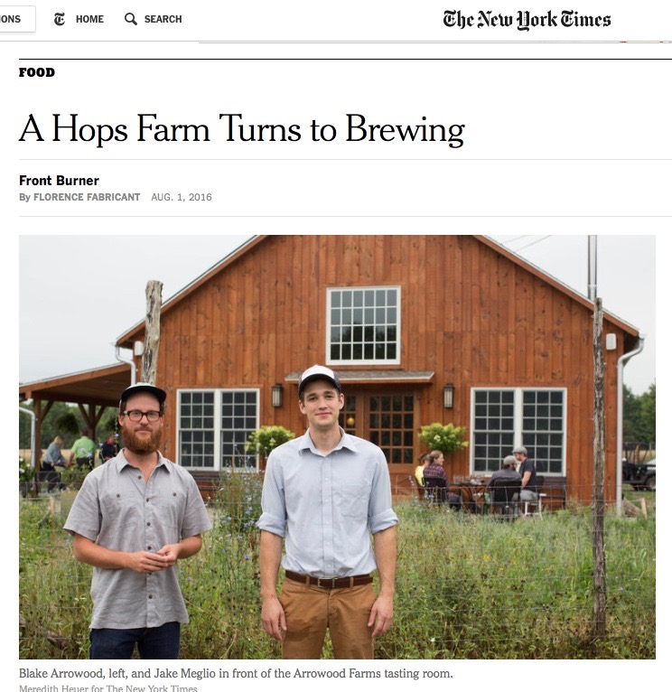 A great big Thank You to the New York Times and Florence Fabricant!
