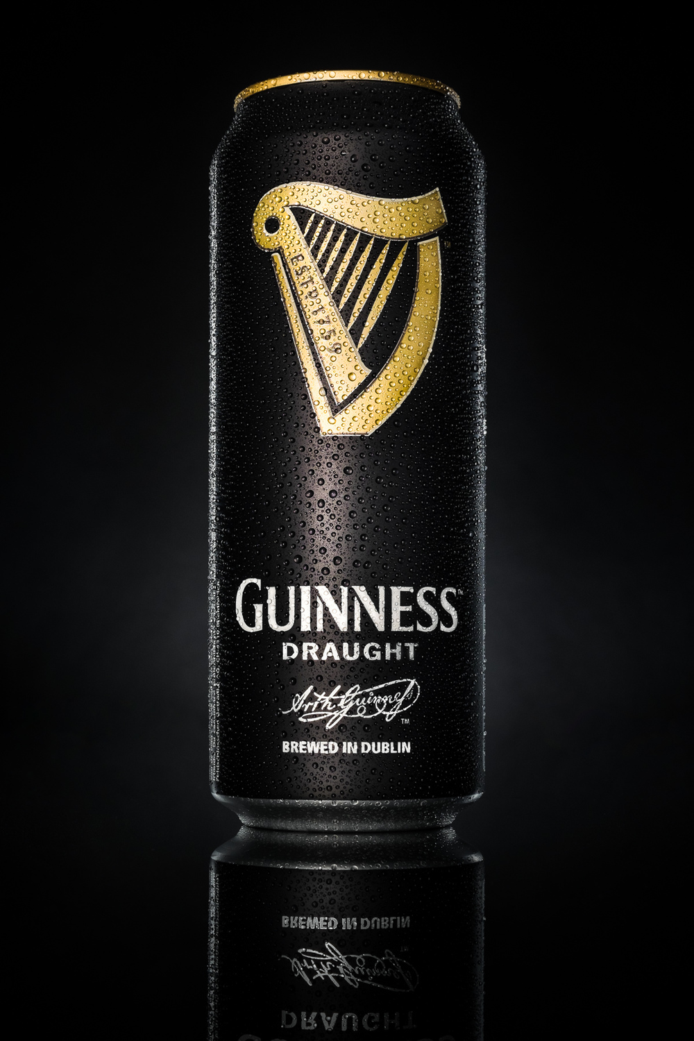 Guinness draught beer can
