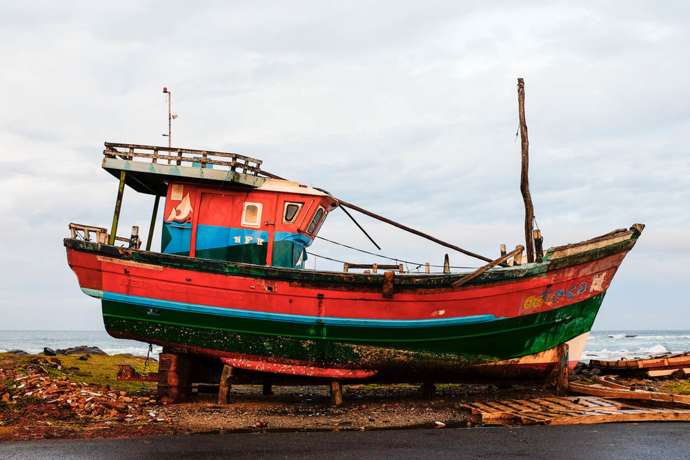 Fishing boat, Matare, Sri Lanka