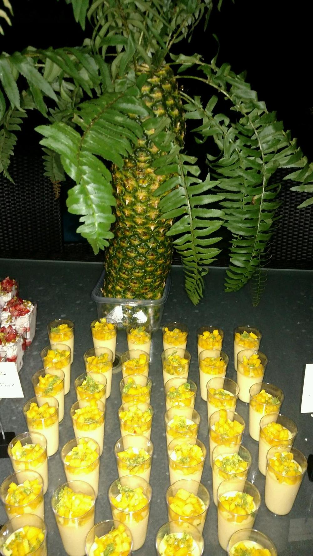 We created a Pineapple Palm tree for the dessert station to add some drama and fun!