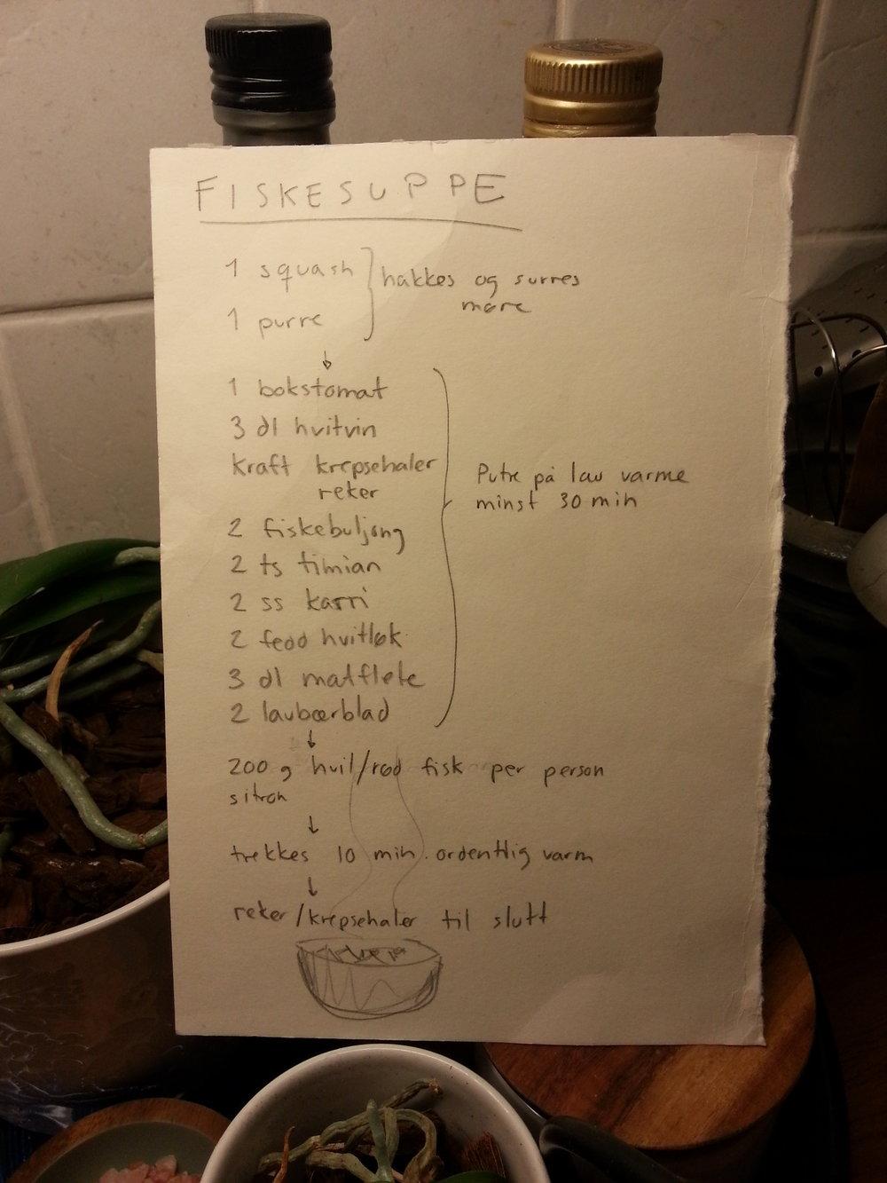Ingrid's original recipe.
