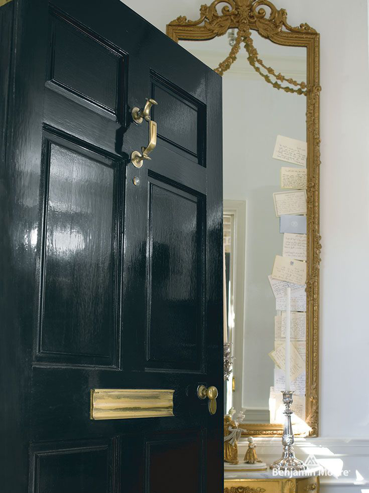 <p><strong></strong>Benjamin Moore Aura 10 Downing Street High Gloss