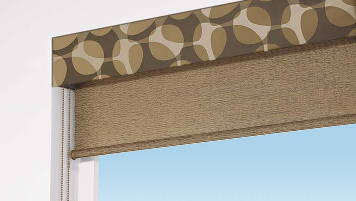 Contrasting Fabric Valance