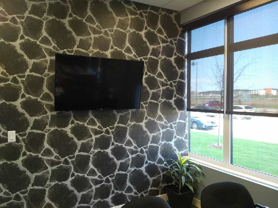 <p><strong></strong> Days Custom Design - Hunter Douglas roller blinds. - Weber Financial, Saskatoon