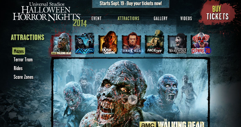 Halloween Horror Nights Hollywood Tickets On Sale! — All Park Access