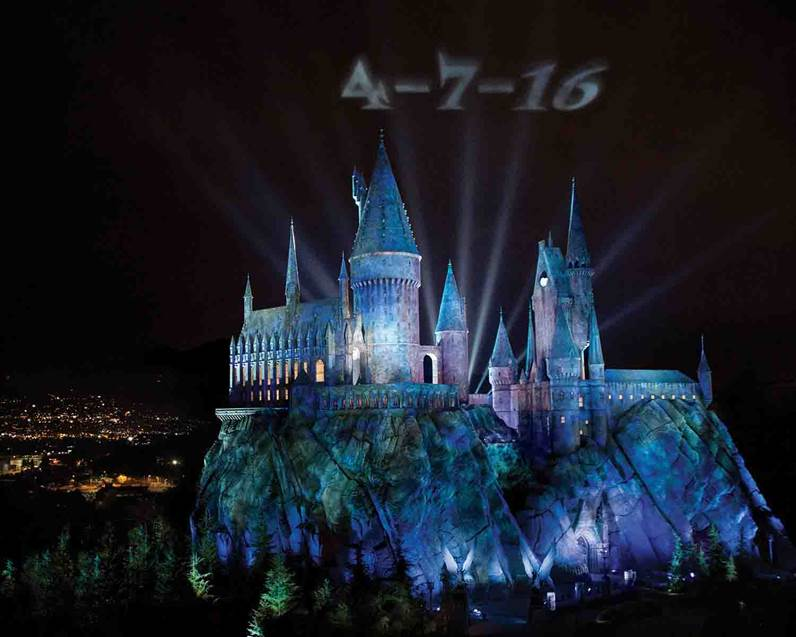 HARRY POTTER, characters, names and related indicia are trademarks of and © Warner Bros. Entertainment Inc. Harry Potter Publishing Rights © JKR. (s15) ©2015 Universal Studios. All Rights Reserved.
