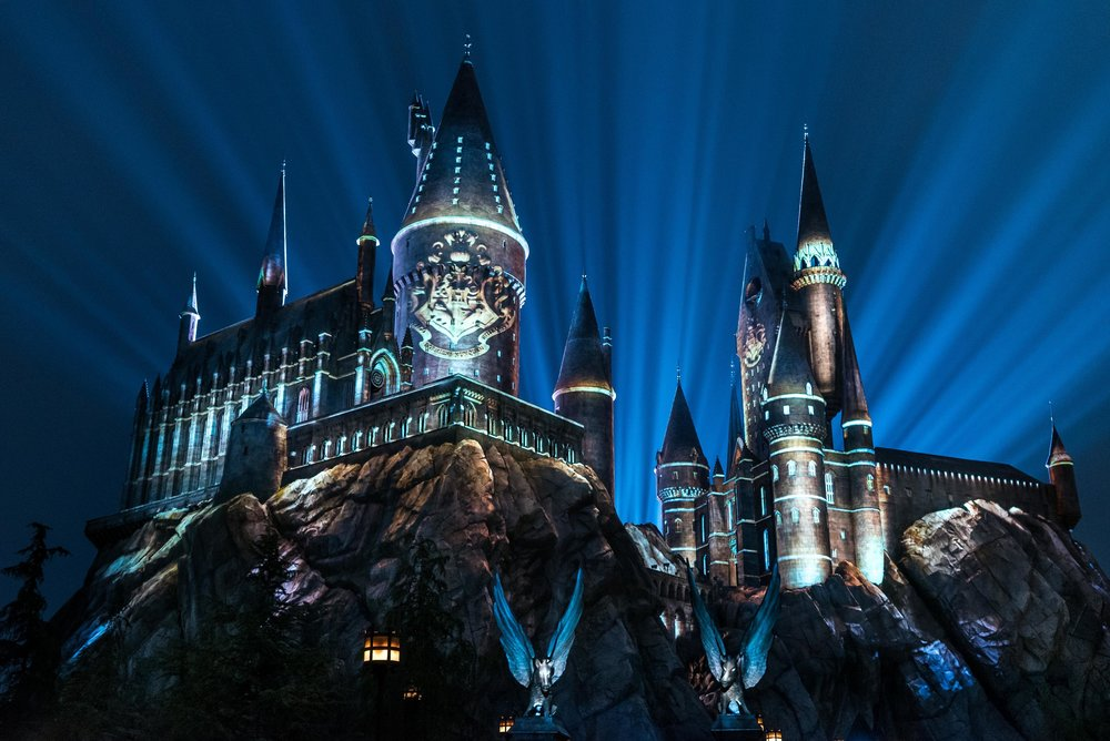The Nighttime Lights at Hogwarts Castle_WWoHP at USH 2018.jpg