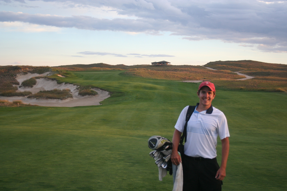 Golf day at Sand Hills while working at Dismal River in 2011