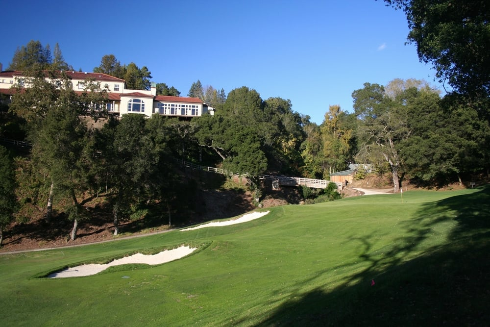 Hole 18 at Orinda Country Club, only 15 minutes drive from my front door