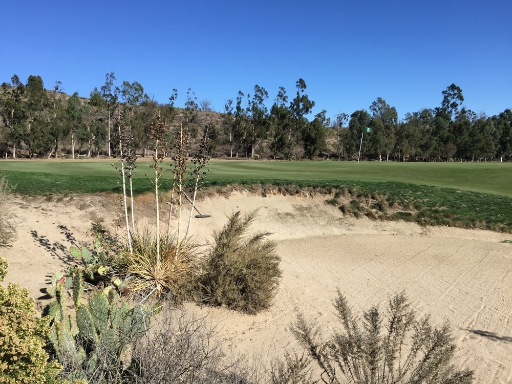 The outstanding bunkering at Rustic Canyon brings the desert right into the golf course, leaving nary a trace where man's influence begins and ends