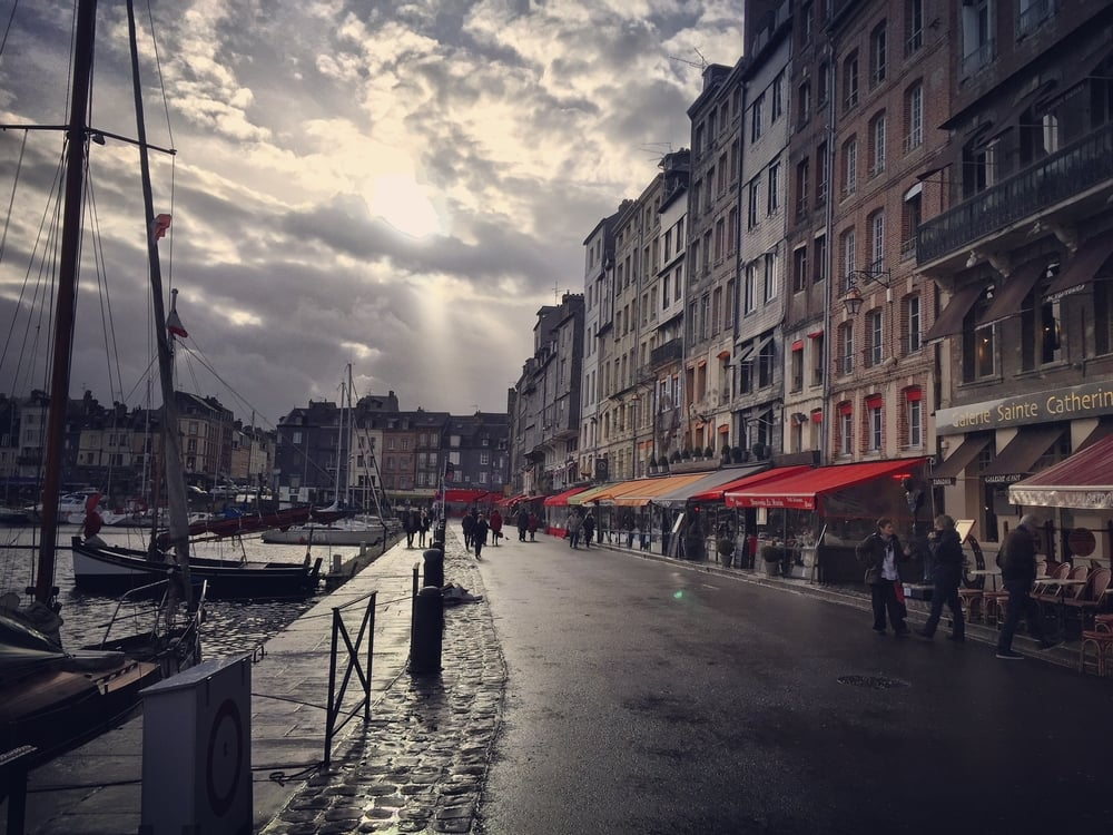 Honfleur Harbor, a place inhabited by many Impressionist painters for its ever changing light