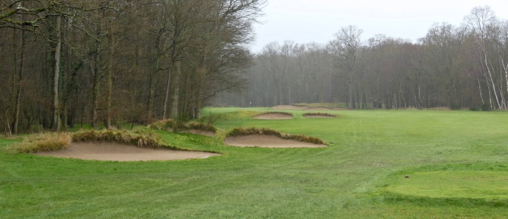Saint Germain's bunkering is varied, elegant, and capable of creating all sorts of spatial confusion in the brain, such as these and others found just off of tee sites--a perfect example of the capabilities of golf architecture on indifferent sites.
